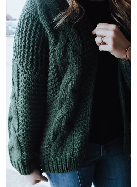 Wishlist Green Rachel Yarn Sweater