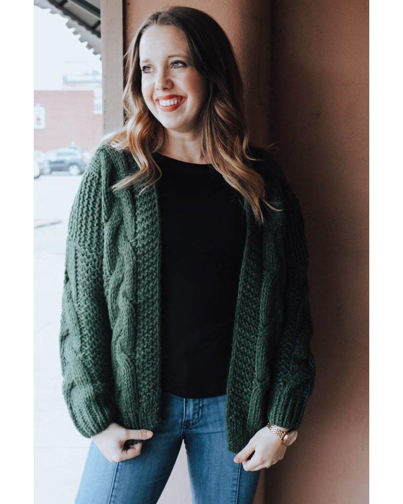 Wishlist Green Rachel Yarn Sweater