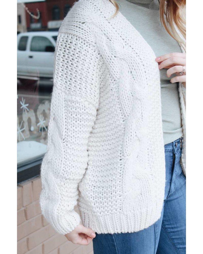 Wishlist Natural Rachel Yarn Sweater
