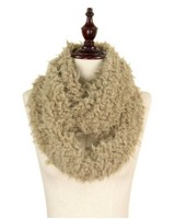 Sherpa infinity scarf taupe