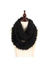 Sherpa infinity scarf black