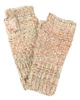 Knit Beige Confetti Fingerless gloves