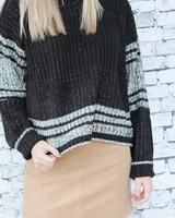 Hem & Thread Edgy Black Stripe Sweater
