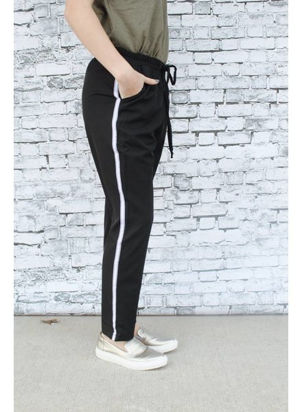 Hem & Thread Sewn Stripe Jogger