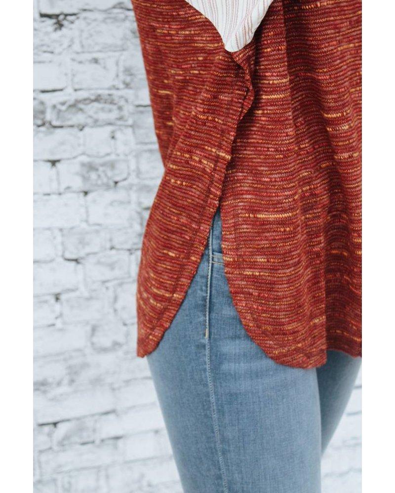 Hem & Thread Sunset Color Block Sleeve Top 5880H