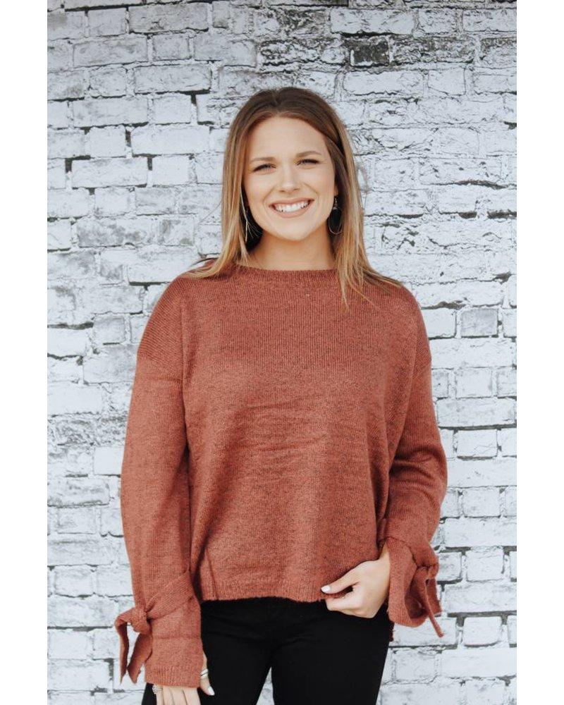 Hem & Thread Tatum Tie Sleeve Sweater 5787N