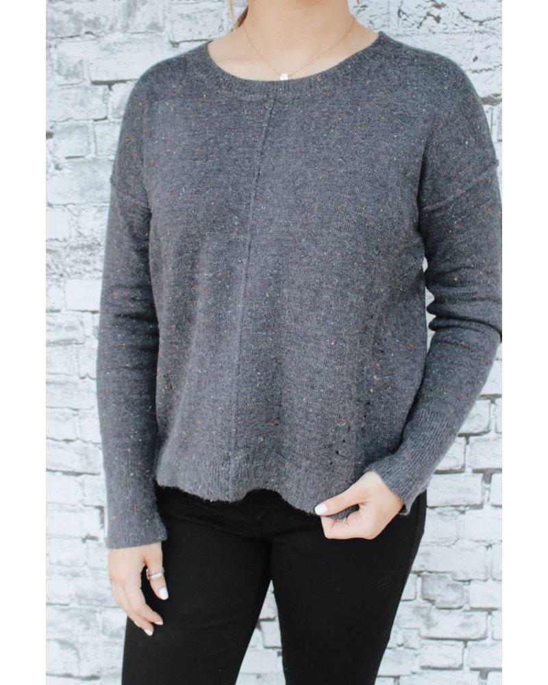 Hem & Thread Nate Confetti Navy Sweater 5690N
