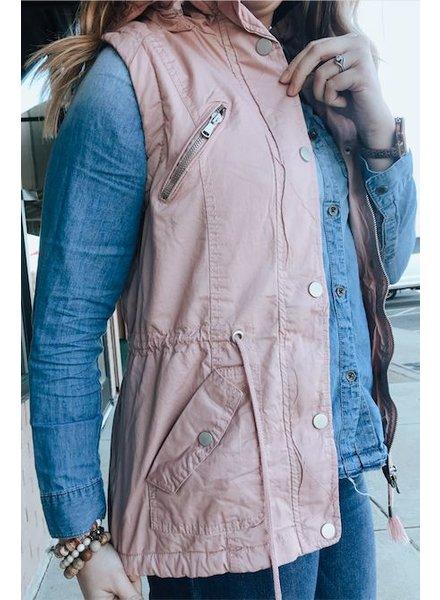 Trend Shop Blush Utility Vest