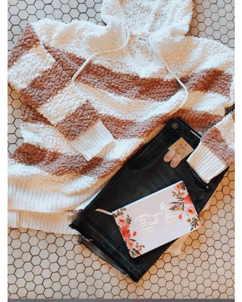 Trend Shop Blush Stripe Popcorn Hoodie