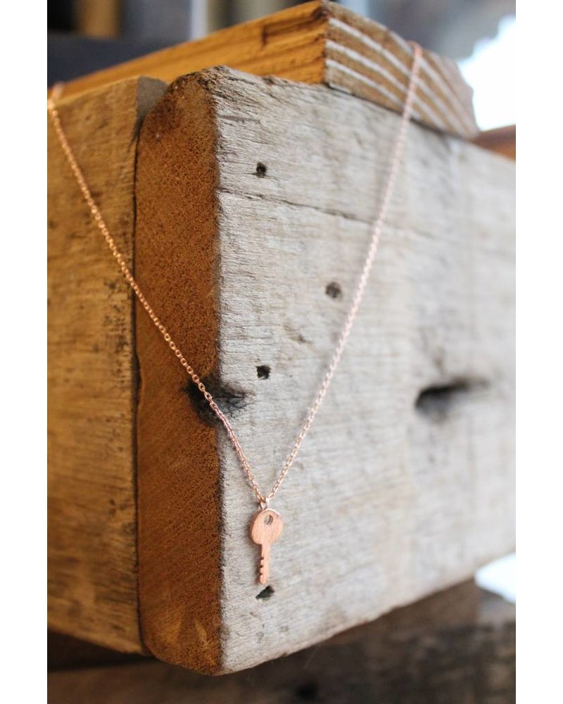 Rose Gold Key to my Heart Necklace