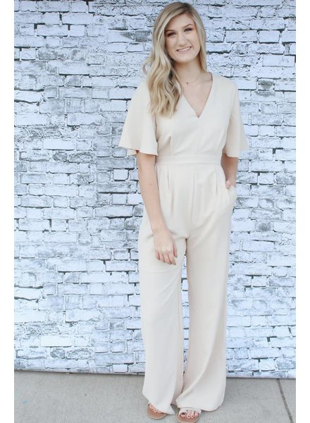 Blue B Marilyn Beige Jumpsuit