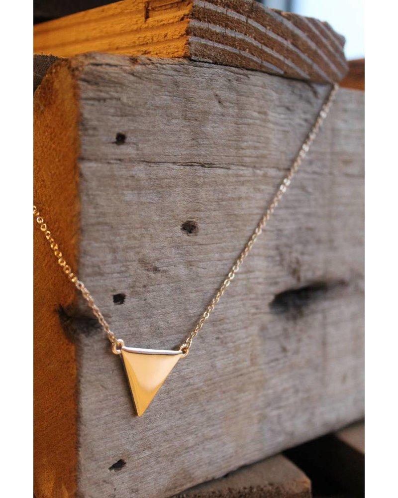 Geo Triangle Dainty Necklace Gold