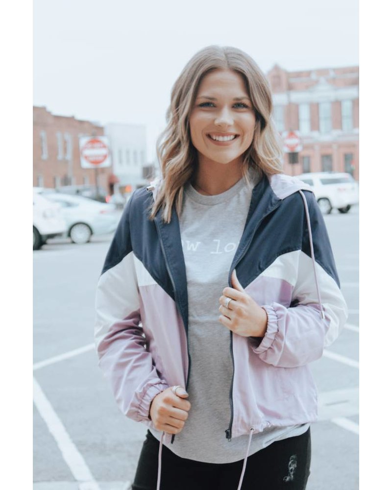 Trend:notes Lilac Color Block Track Jacket