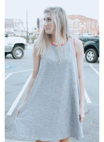 Hem & Thread Josie Stripe Skater Dress