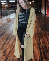 Jodifl Molly Mustard Lace Duster
