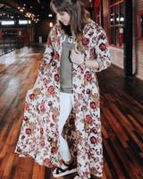 Jodifl Magenta Mixed floral Duster Dress
