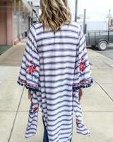 andree Seniorita Embroidery Kimono