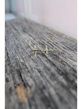 Karama Karama Petite Cross Earrings