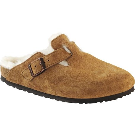 Boston Shearling  Suede/Fur Lined Clog Narrow