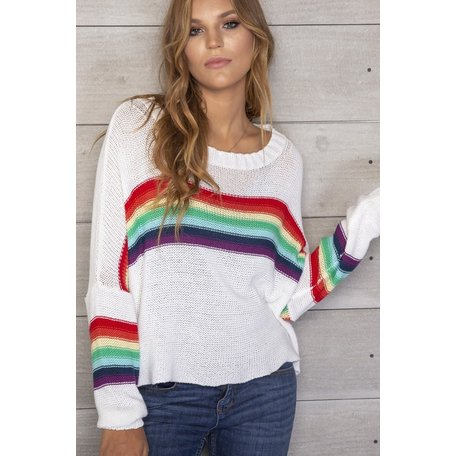 084 Rainbow Crewneck Cotton