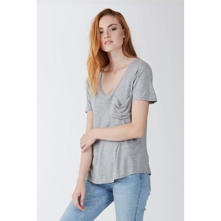 Phoenix Pocket V Neck Tee SS
