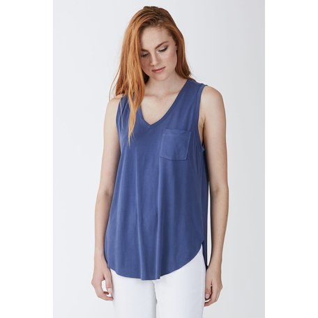Esther Vneck Tank w/Pocket