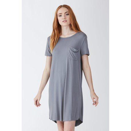 Samantha Crew Neck SS Dress w/Pocket