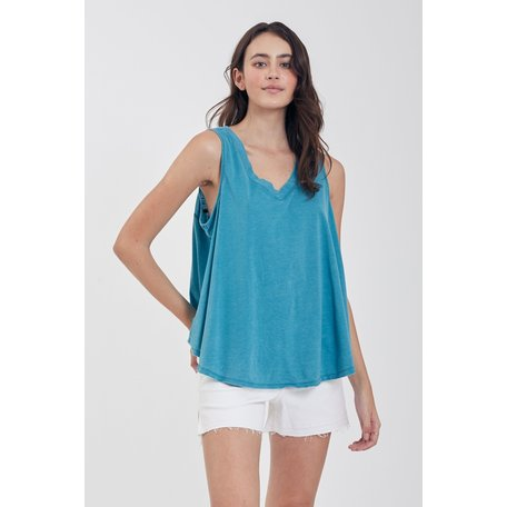 Allison V Neck Relaxed Burnout Tank