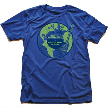 Music Makes the World Go Round Royal T-Shirt
