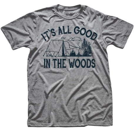It's All Good In The Woods Triblend Grey  T-Shirt