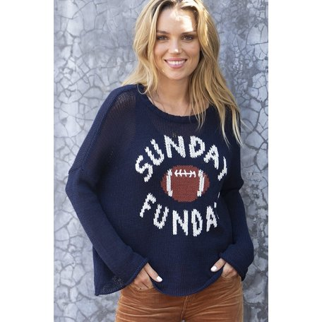K43C2W162 Sunday Funday Football Cotton Crew