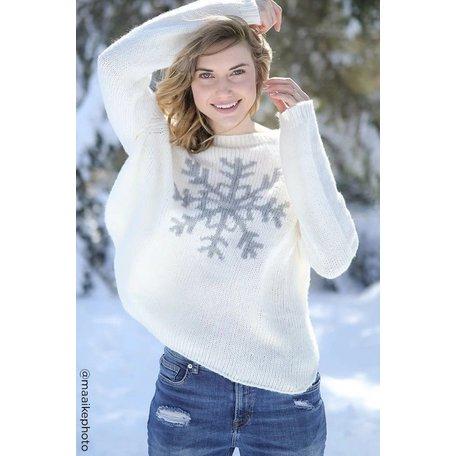 K43Y2W944 Snowflake Crewneck