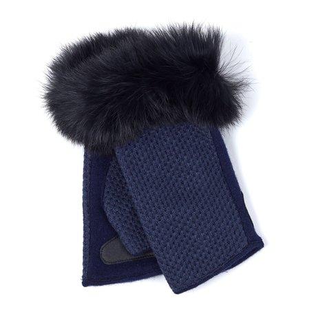 EG0083 Texture Fur Fingerless Glove