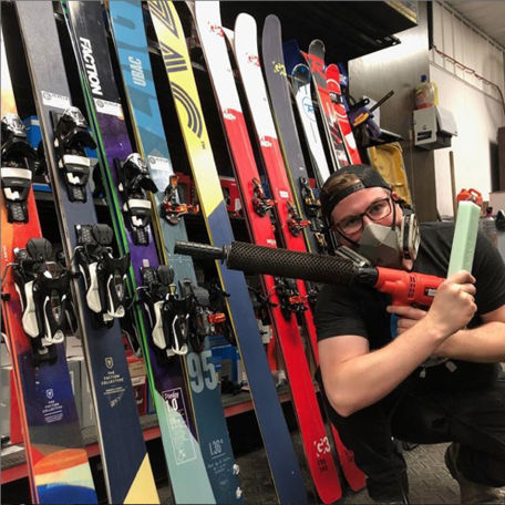 Alpine and touring skis and snowboards