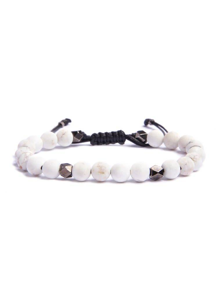 We Are All Smith We Are All Smith Howlite Beaded Bracelet