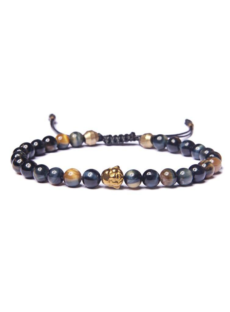 We Are All Smith We Are All Smith Golden Tigers Eye+Buddah Beaded Bracelet