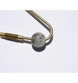 Black + Jane Black + Jane Tourmaline Quartz Teardrop Keychain