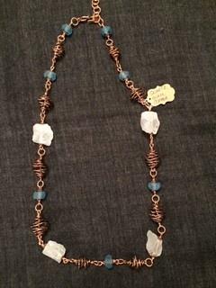 """Linda Meadows Necklace Quartz Glass 30"""""""