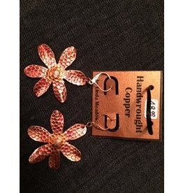 Linda Meadows Copper Flower Earings