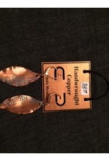 Linda Meadows Copper Leaf Earings