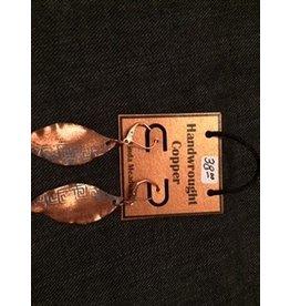 Linda Meadows Copper Leaf Earings