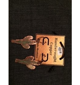 Linda Meadows Copper Cactus Earings