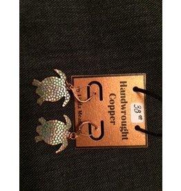Linda Meadows Copper Tortoise Earings