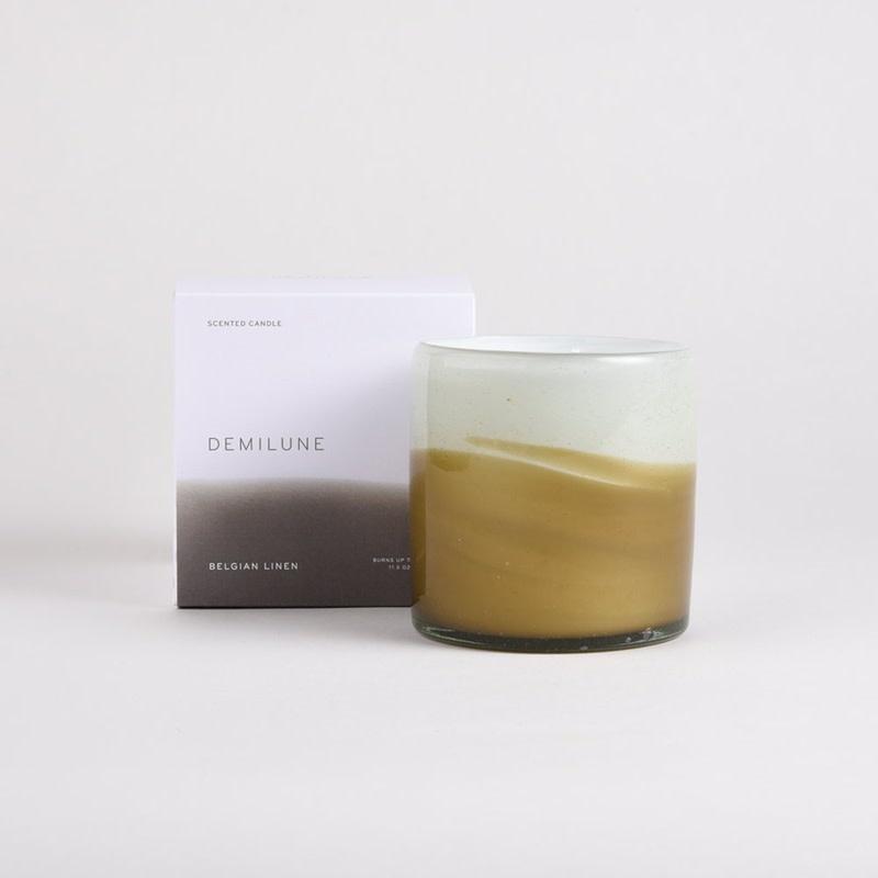 Demilune Demilune Candle Belgian Linen