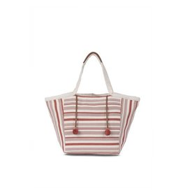 Mercado Global Mercado Global Rosa Tote Stripe Terracotta