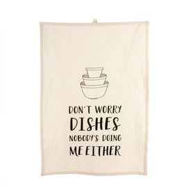 Indaba Indaba Don't Worry Dishes Tea Towel