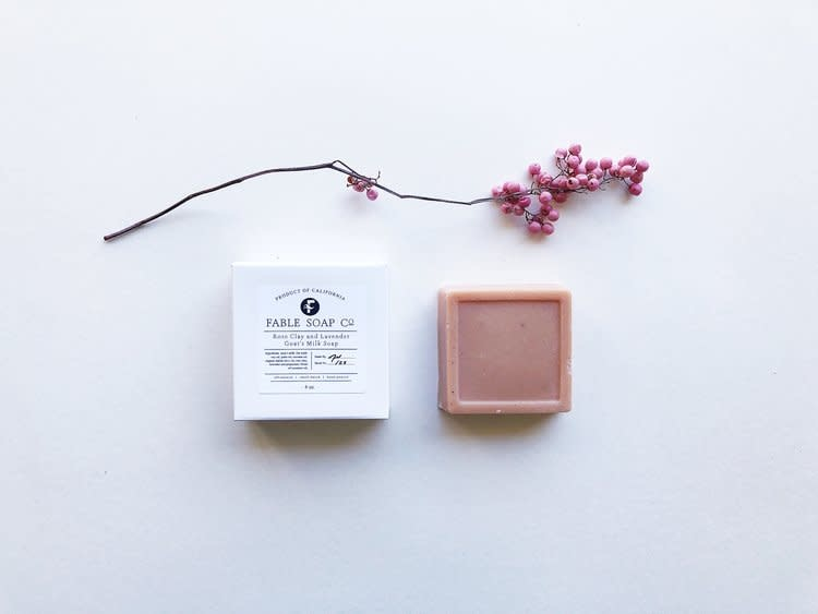 Fable Soap Co Fable Soap Co Rose Clay & Lavender Soap