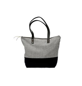 Bittle & Burley Bittle & Burley Small Grey & Black Tote