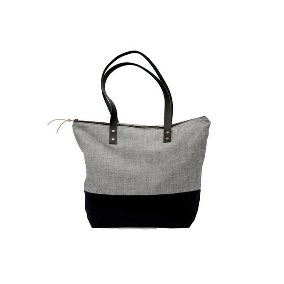 Bittle & Burley Small Grey & Black Tote