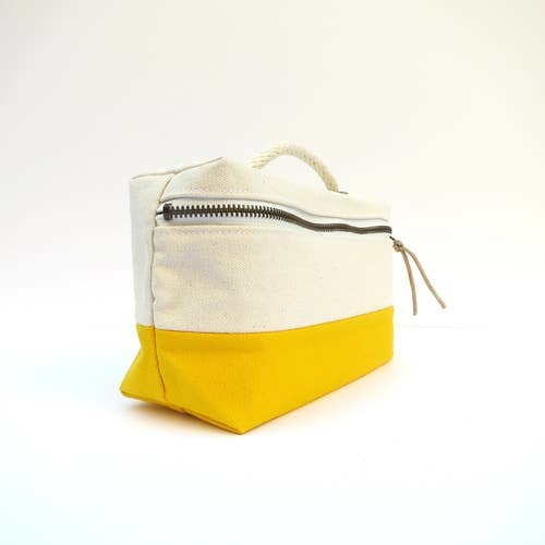 Bittle & Burley Toiletry Bag (Natural/Yellow)
